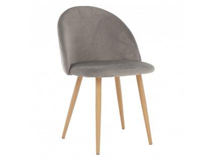 Kondela Jídelní židle, světle šedá, FLUFFY