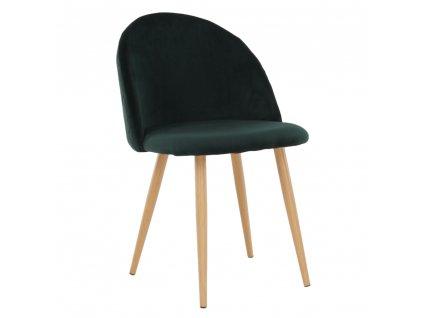 Kondela Jídelní židle, smaragdová, FLUFFY