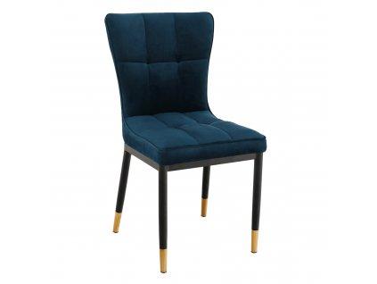 Kondela Designová jídelní židle, petrolejová Velvet látka, EPONA
