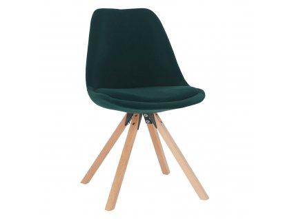 Kondela Židle, smaragdová Velvet látka / buk, SABRA