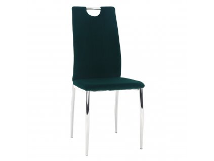 Kondela Jídelní židle, smaragdová Velvet látka / chrom, OLIVA NEW