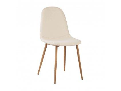 Kondela Židle, béžová Dulux Velvet látka / buk, LEGA