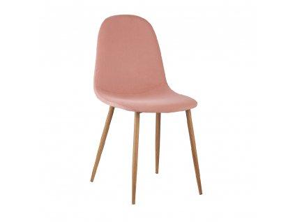 Kondela Židle, růžová Velvet látka / buk, LEGA