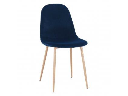 Kondela Židle, modrá Velvet látka / buk, LEGA