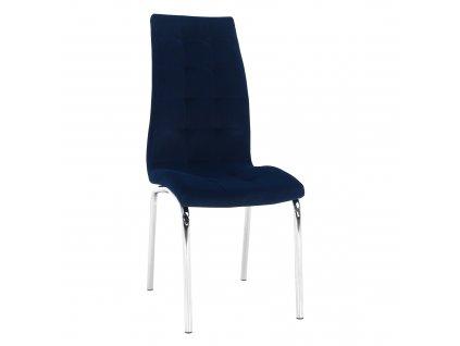 Kondela Jídelní židle, modrá / chrom, GERDA NEW