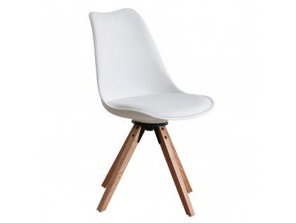 Kondela Stylová otočná židle, bílá, ETOSA