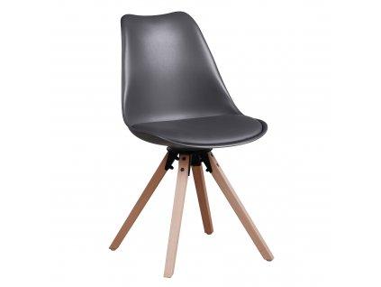 Kondela Stylová otočná židle, tmavě šedá , ETOSA
