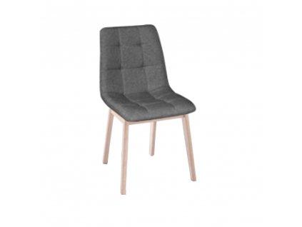 Kondela Jedálenská stolička, drevo svetlý buk / látka sivá, GALIO