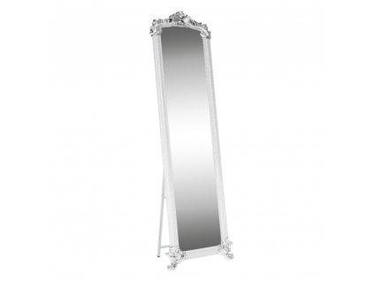 Kondela Stojanové zrcadlo, bílá / stříbrná, ODINE