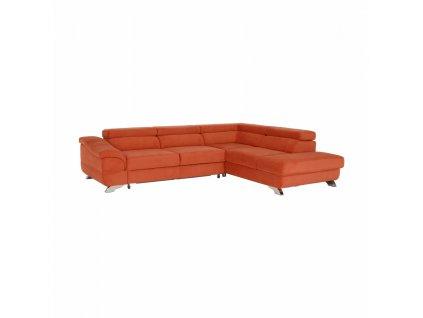 Kondela Rohová rozkládací sedačka, látka Orinoco terakota, pravá, LEGAS