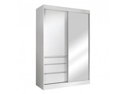 Kondela Skříň s posuvnými dveřmi, bílá, 140, ROMUALDA