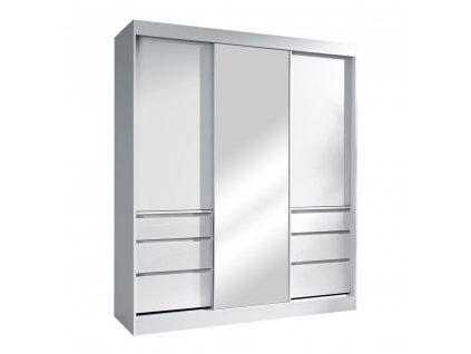 Kondela Skříň s posuvnými dveřmi, bílá, 180, ROMUALDA