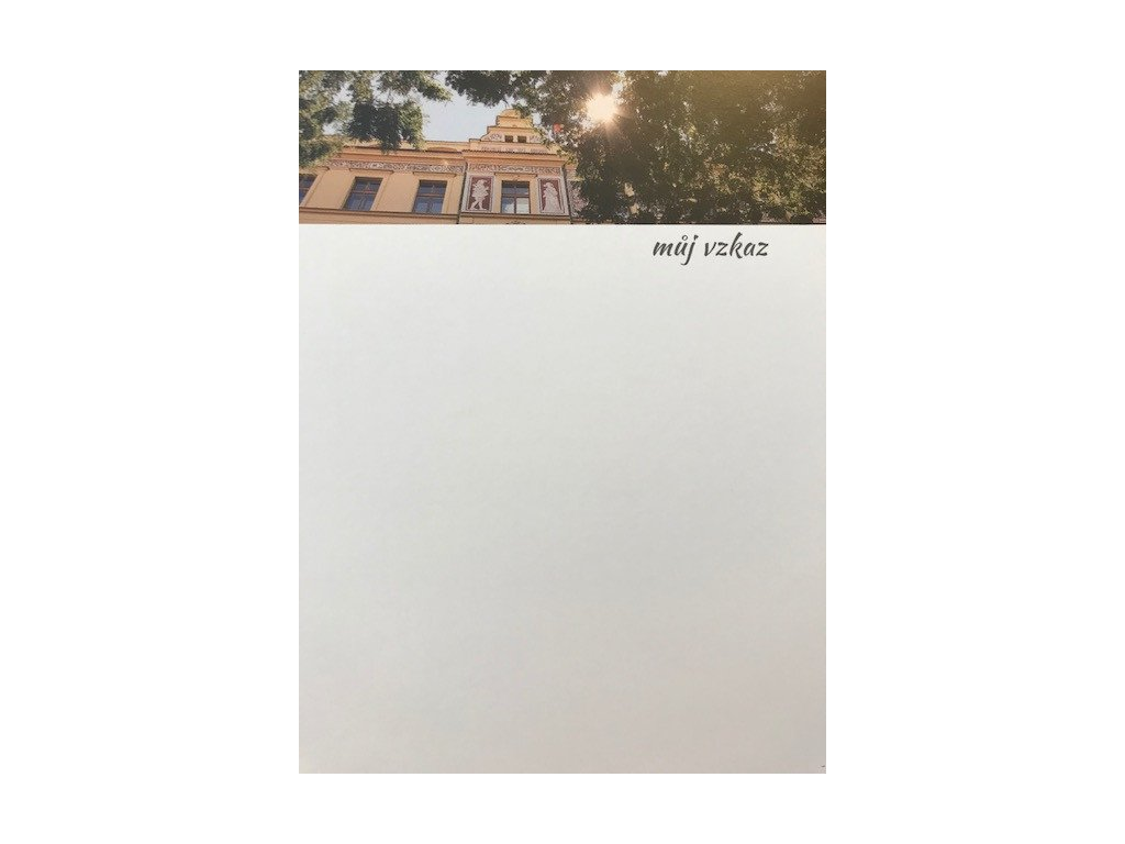 Blok poznámkových karet s motivem Wernerova nábřeží
