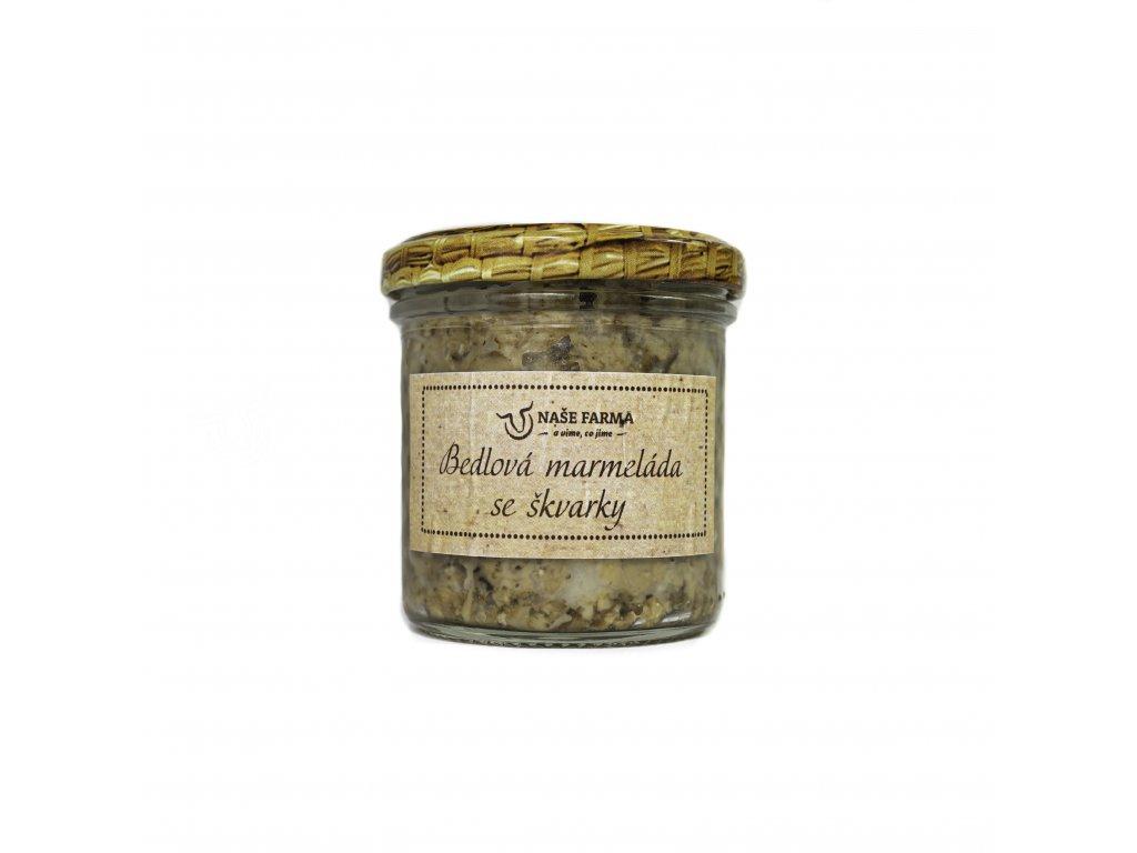 bedlová marmeláda se škvarky