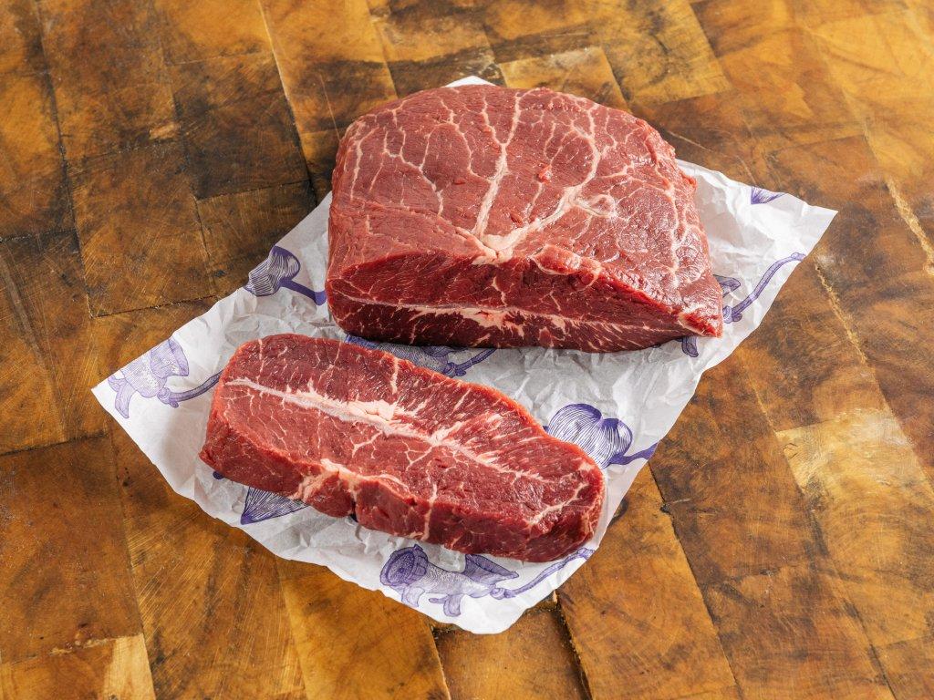 loupaná plec na steak