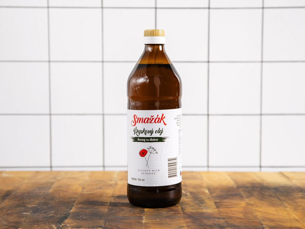 Řepkový olej za studena lisovaný