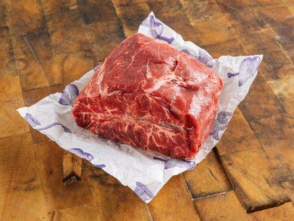 Loupaná plec na vaření podávaná s rajskou nebo houbovou omáčkou | Top blade for beef with mushroom sauce