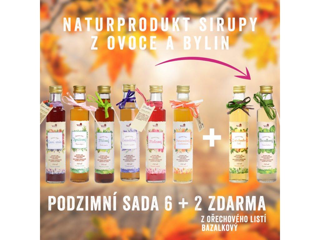 Podzimní sada sirupů 6+2 Zdarma