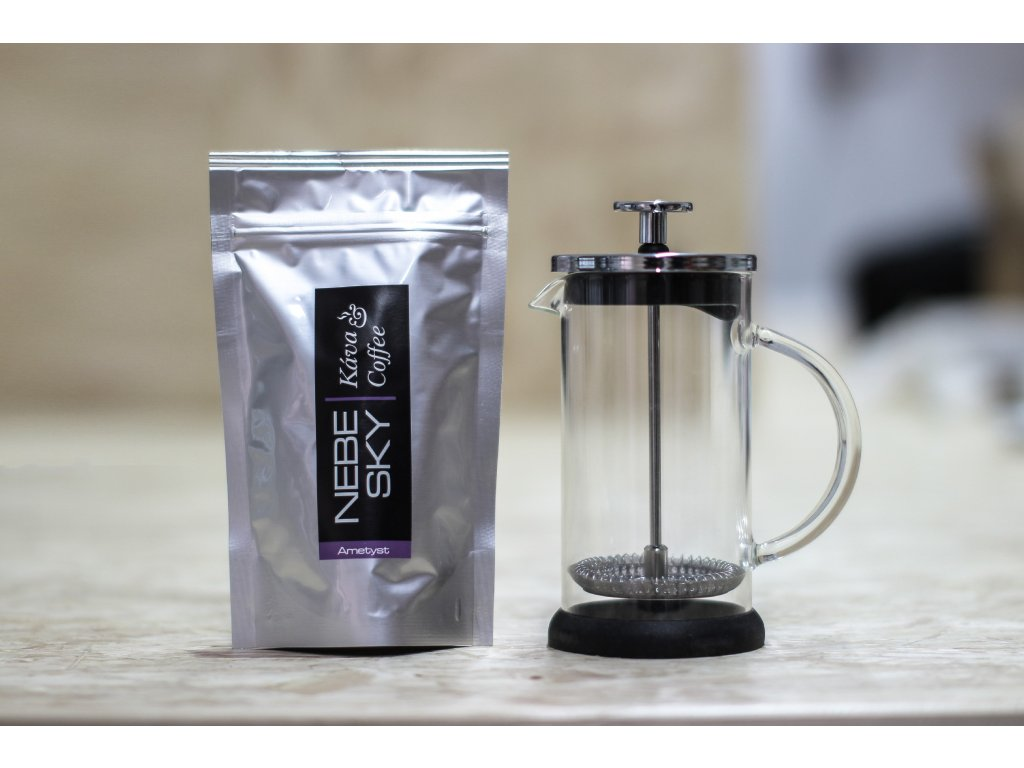 French press 300ml + 80g kávy