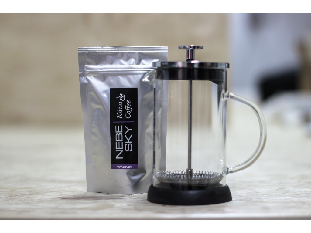 French press 600ml plus 80g kávy