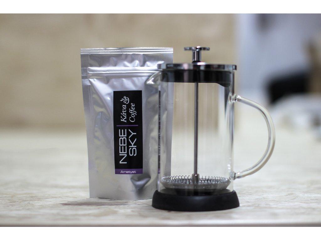 French press 600ml plus 80g kávy