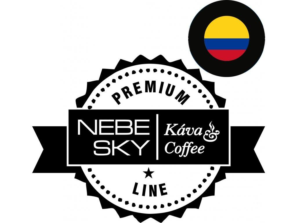 Pražená zrnková káva COLOMBIA Colibrí - 100% arabica