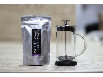 French press 300ml + 80g kávy