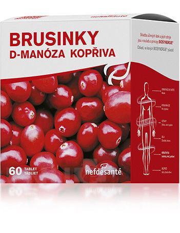 Brusinky D-Manóza Kopřiva