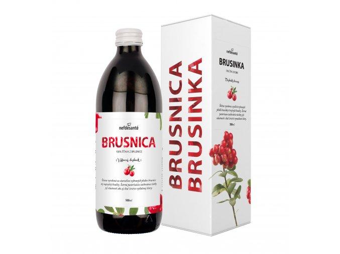Brusinka CZ 500 ml lahev + krabice