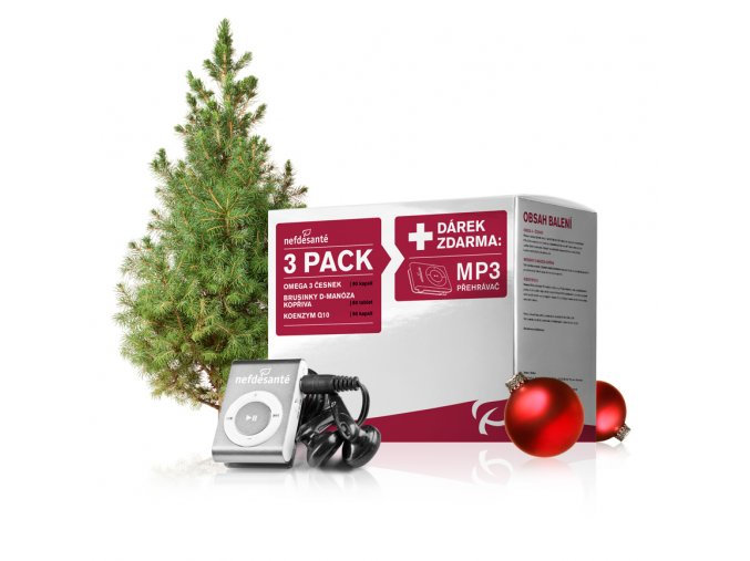 3 PACK + dárek zdarma MP3 přehravač