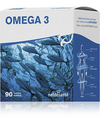 Nef de Santé a.s. Omega 3 90 kapslí nová OMEGA 3