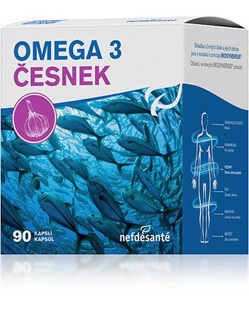 Nef de Santé a.s. Omega 3 česnek 90 cps - nová OMEGA 3 česnek