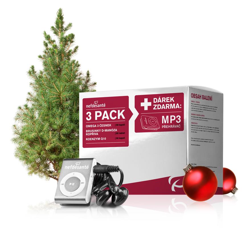Nef de Santé a.s. 3 PACK + dárek zdarma MP3 přehravač