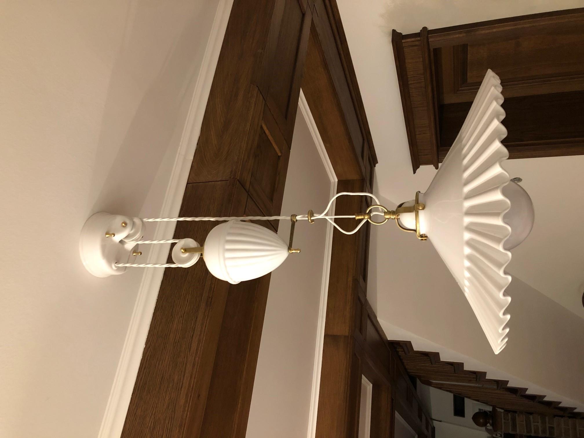 Porcelánové stahovací svítidlo s protizávažím Linea Duse