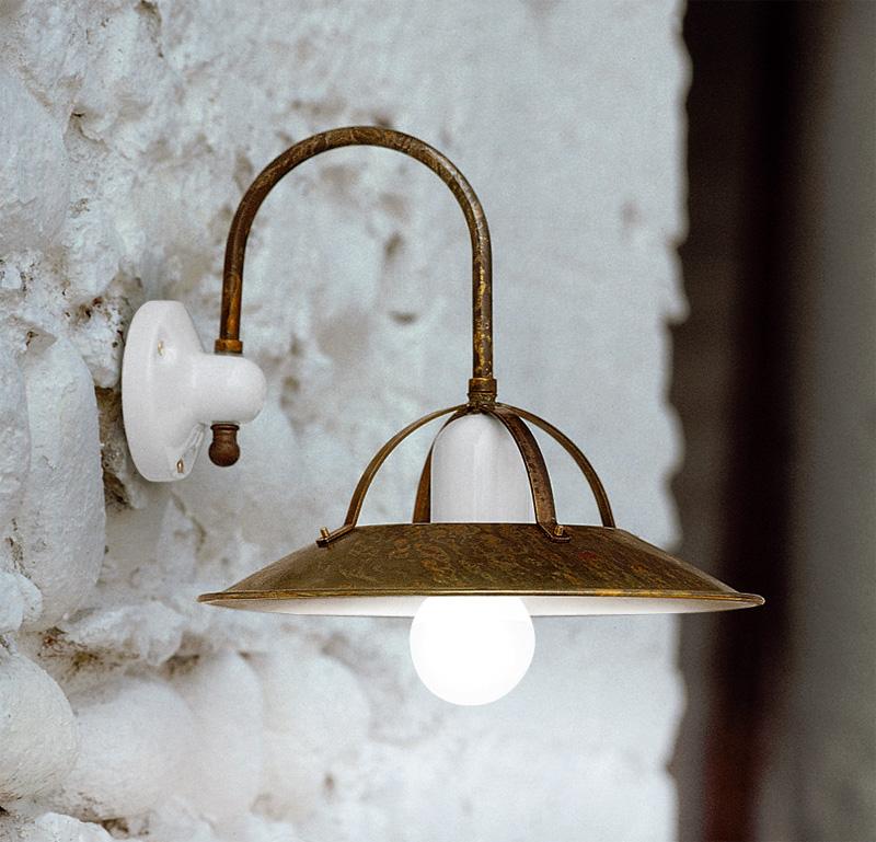 Retro mosazné nástěnné lampy