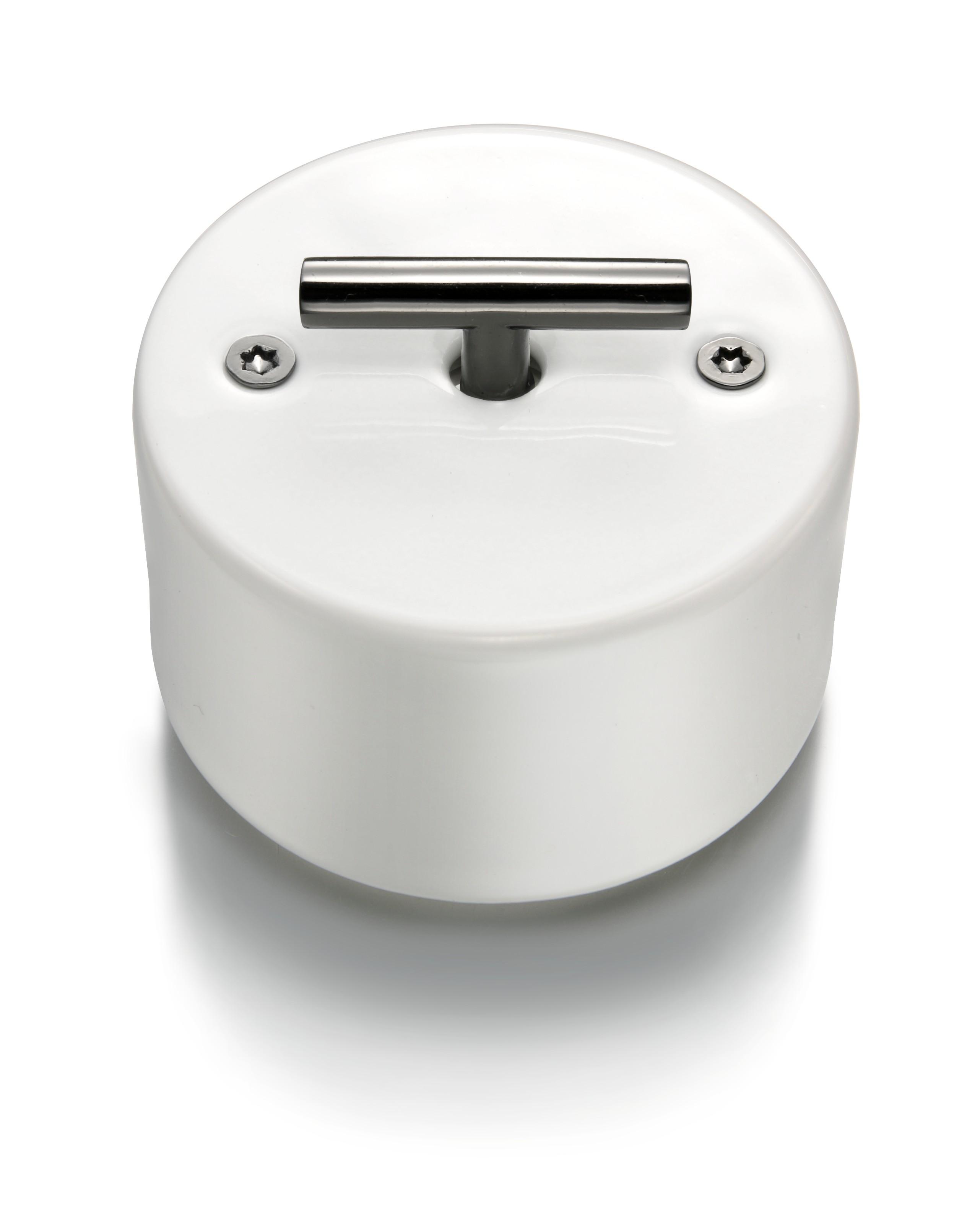 Otočné porcelánové vypínače na povrch