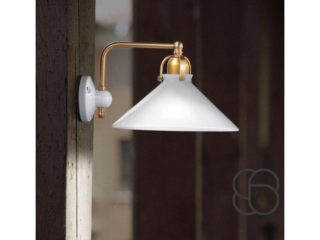 Porcelánová nástěnná lampa retro Linea Tenda