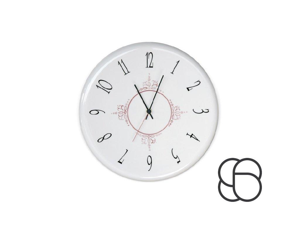 Nástěnné retro porcelánové hodiny Linea Orologi