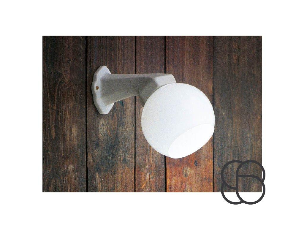 Porcelánové nástěnné koupelnové svítidlo retro Linea Quaranta