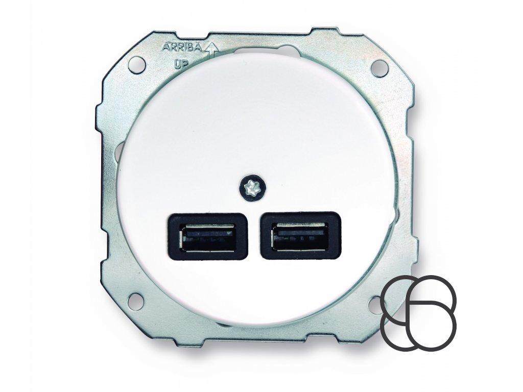 Dvojitá porcelánová USB nabíječka LOW