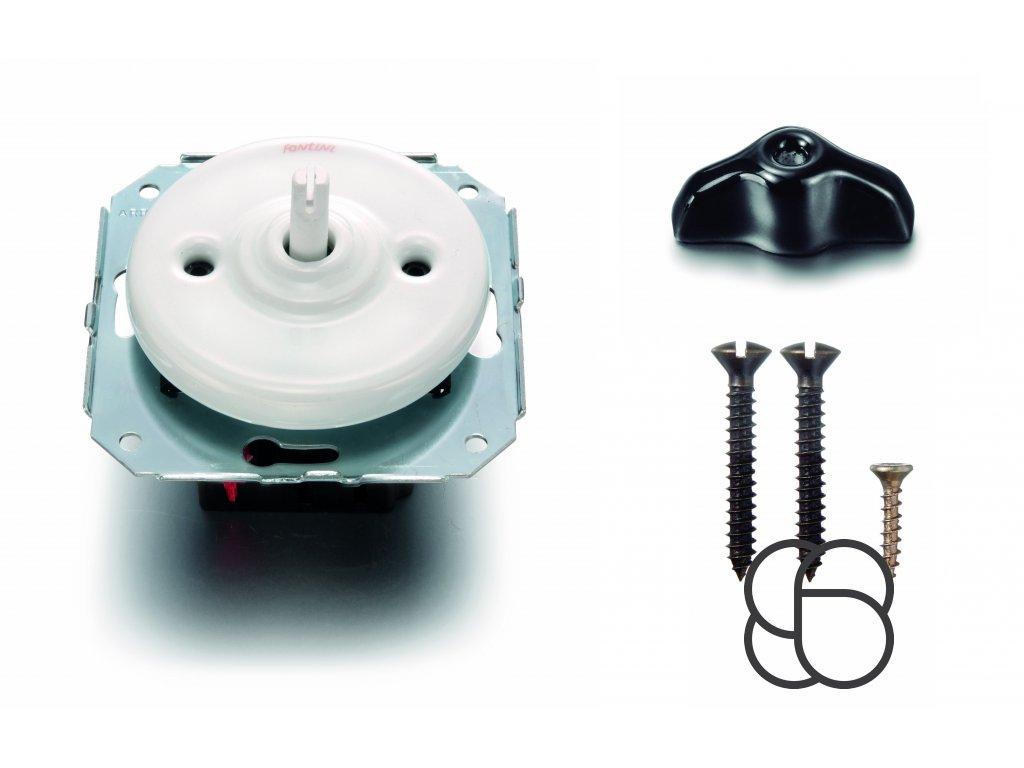 Porcelánový vypínač Garby Colonial bílý/klička retro černá