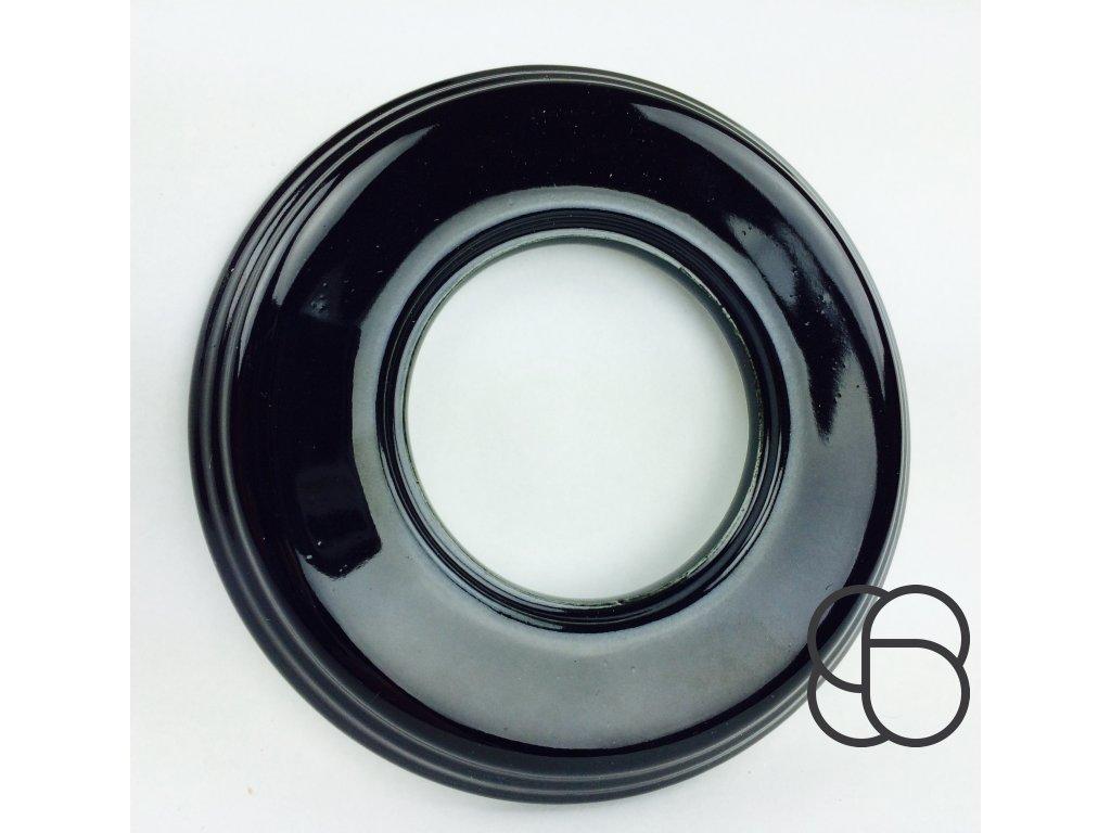 Rámeček Garby Colonial porcelánový/černá
