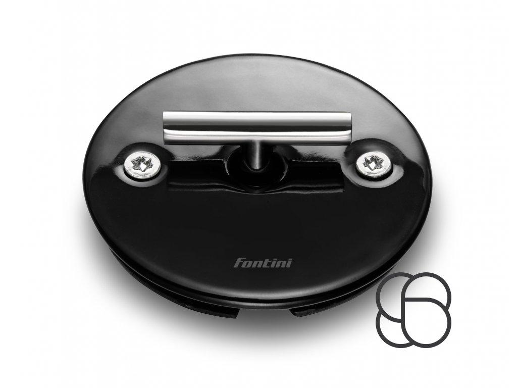 Porcelánové otočné tlačítko DO FIT - černá