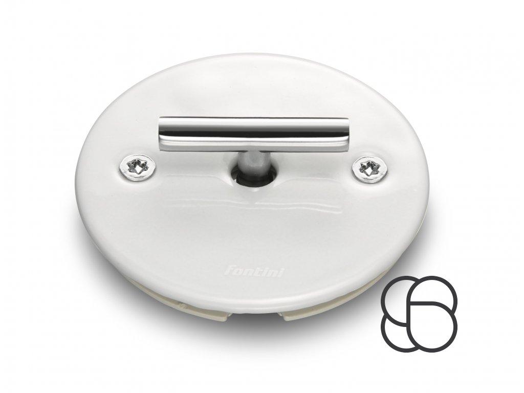 Porcelánové žaluziové otočné tlačítko LOW bílá