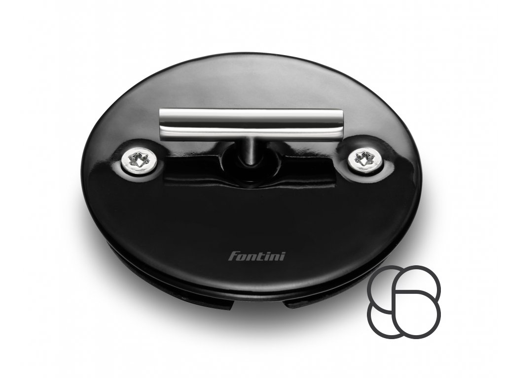 Porcelánové žaluziové otočné tlačítko DO FIT - černá