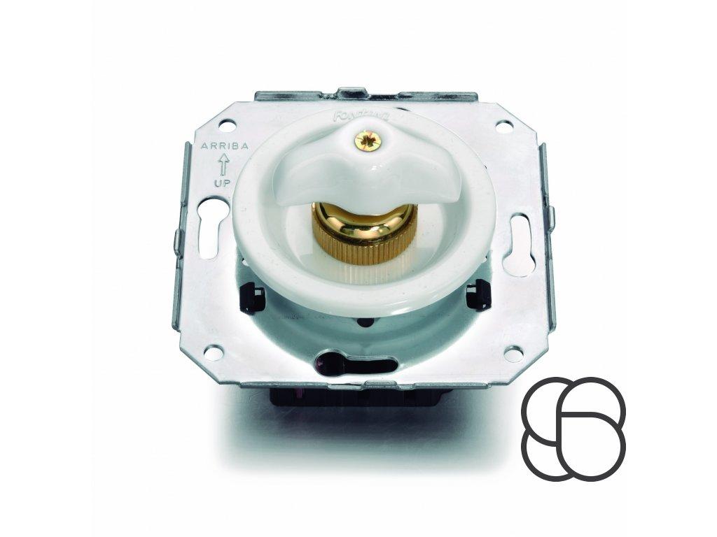 Plastový vypínač Venezia bílý/retro klička
