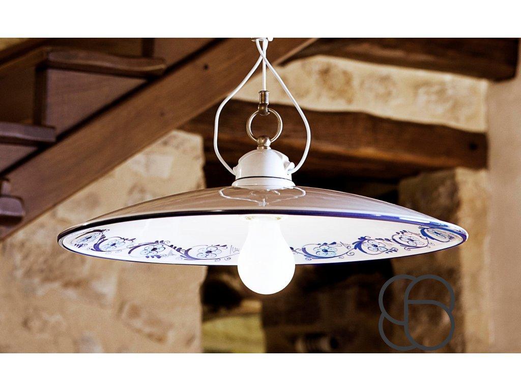 Porcelánové závěsné stropní svítidlo retro Linea Bilancia 3