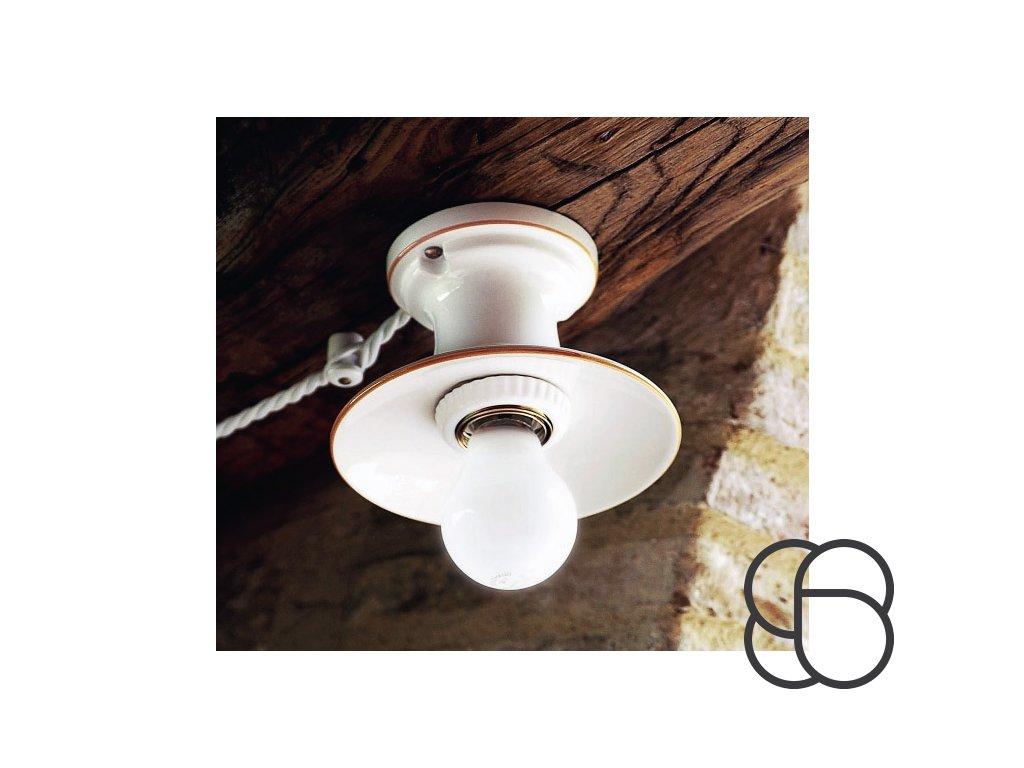 Porcelánové stropní svítidlo retro Linea Isola