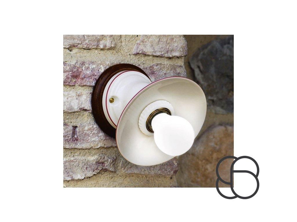 Porcelánové nástěnné svítidlo retro Linea Isola