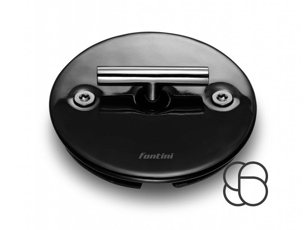 Porcelánový vypínač DO FIT černý/klička tmavý nikl